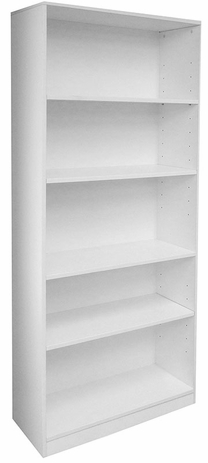 White 5-Shelf Office Bookcase