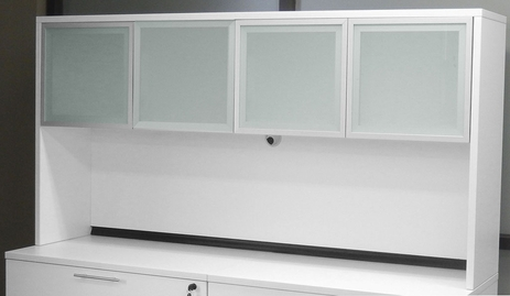 White Glass Door Hutch
