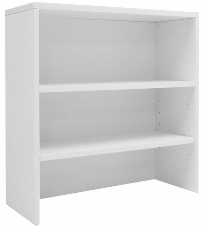 White Lateral File/Cabinet Bookcase Hutch