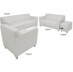 White Leather Lounge / Reception Seating - White Leather Club Chair