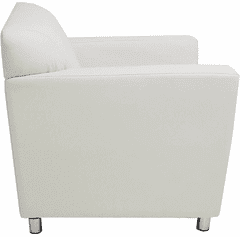 White Leather Lounge / Reception Seating - White Leather ...