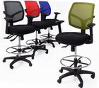 """Workhorse 300 Lbs. Capacity 24/7 Multi-Function Office Stool - 24""""-31"""" Seat Ht."""