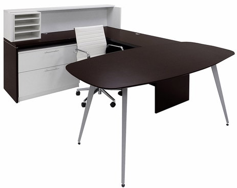 WorkTrend Low Rise U-Shaped Workstation Desk