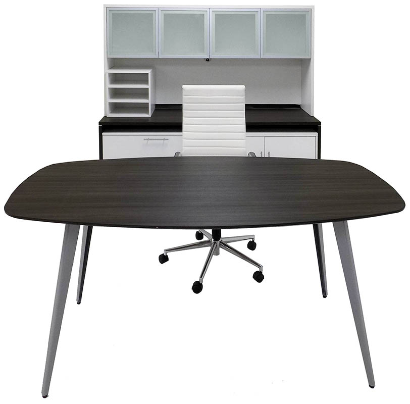WorkTrend Tapered Angled Steel Leg High Rise Executive Office Furniture  Suite