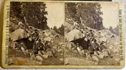 """1876 """"Starvation March"""" 2nd US Cavalry stereoview"""