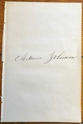 Beautiful Andrew Johnson autographed page