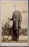 California Militia Officer Bandsman Cdv