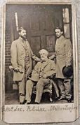 Cdv of Robert E. Lee & Staff on his home porch in Richmond