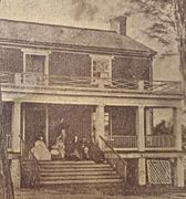 Cdv of the Wilmer Mclean family on the porch after the surrender