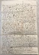 CSA 47th TN (Died POW) Captain's Letter-Ft. Donaldson has surrendered, even though they killed four times more than the Yankees!