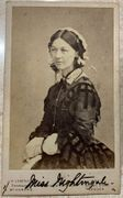 """The Lady with the Lamp"" Florence Nightingale cdv"