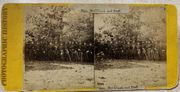 Gen. McClellan & Identified staff at Yorktown, Virginia stereoview