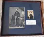 Beautifully framed General William T. Sherman Autograph Display
