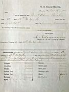 Hospital Inventory of Deceased Private Abram Poucher of the famous 14th Brooklyn Infantry