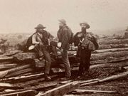 Iconic photo of three Confederate Prisoners at Gettysburg Stereoview: