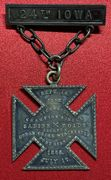 Incredible 24th Iowa Infantry inscribed Corps Badge Medal