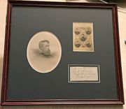 Beautifully framed General Jefferson C. Davis autograph display
