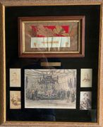 **SOLD** Outstanding framed Abraham Lincoln Funeral Relic
