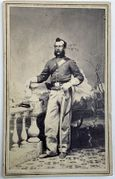 "(Myles Keogh) Cdv of Company ""I"" 2nd Sgt. Thomas G. Slark, 7th US Cavalry."