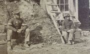 **SOLD**   Outstanding stereoview with black soldiers