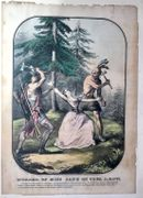 """Murder of Miss Jane Mc Crea A.D. 1777."" 1846 Lithograph"