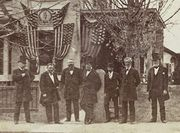 Stereoview of Grant & his Cabinet outside