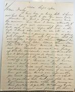 "Two 1866 Letters- Pres. Andrew Johnson-""drunken driveling slobbering harangue"""