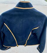 View of the back of shell jacket: