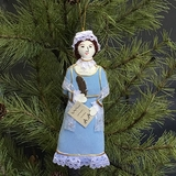 Abigail Adams Embroidered Fabric Ornament