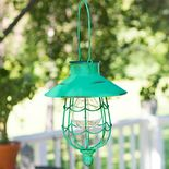 Antiqued Green Solar Lantern
