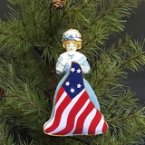 Betsy Ross Embroidered Fabric Ornament