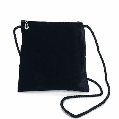 Black Silk Velvet Bag