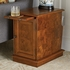 Burled Chairside Cabinet