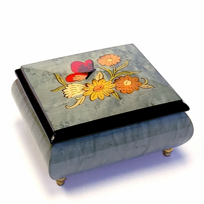 Butterfly & Flowers Music Box