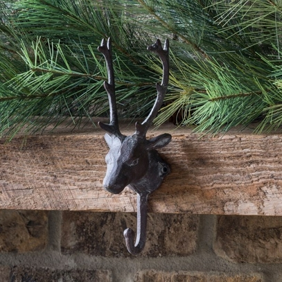Cast Iron Reindeer Hook