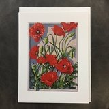 Corn Poppy Notecard