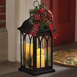 Decorated Tri-Candle Lantern