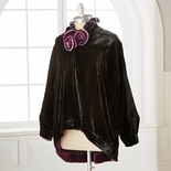 Embellished Black Velvet Jacket