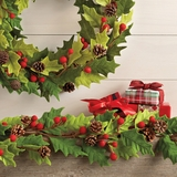 Felted Holly Berry Garland