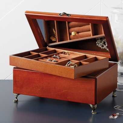 Footed Jewelry Box