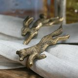 Fox and Rabbit Napkin Rings (set of 6)