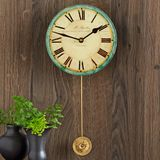 French Glass Wall Clock
