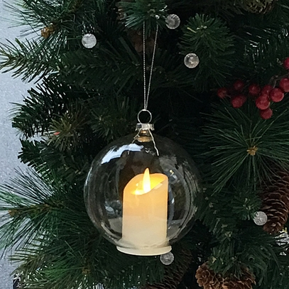 Glass Ball Candle Ornament