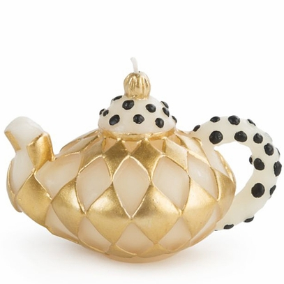 Gold Diamond Teapot Candle