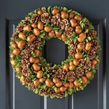 Gourd and Pinecone Wreath