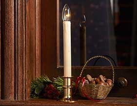Brass LED Window Candle