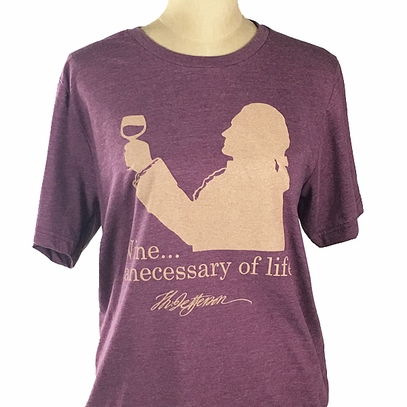 Jefferson Wine Quote T-Shirt
