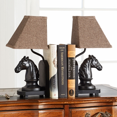 Lighted Horse Bookends