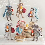 Midnight Mice Ornaments