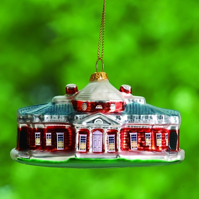 Monticello Blown Glass Ornament